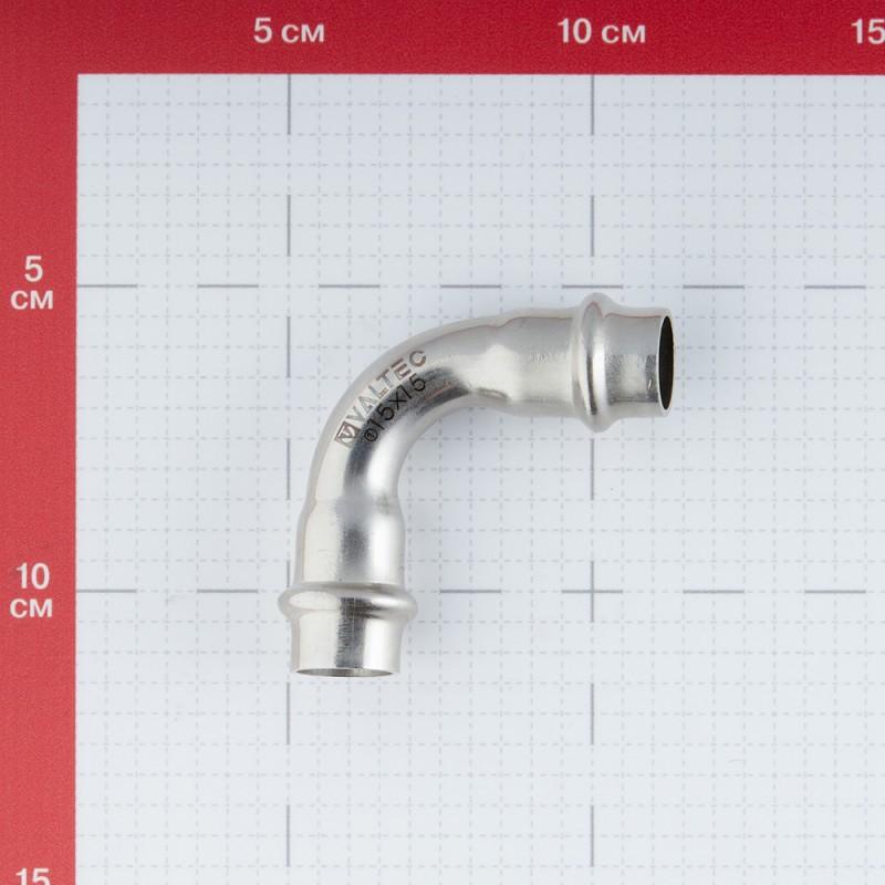 Угол VALTEC (VTi.951.I.001515) 90° 15 мм ВВ нержавеющая сталь (фото 4)