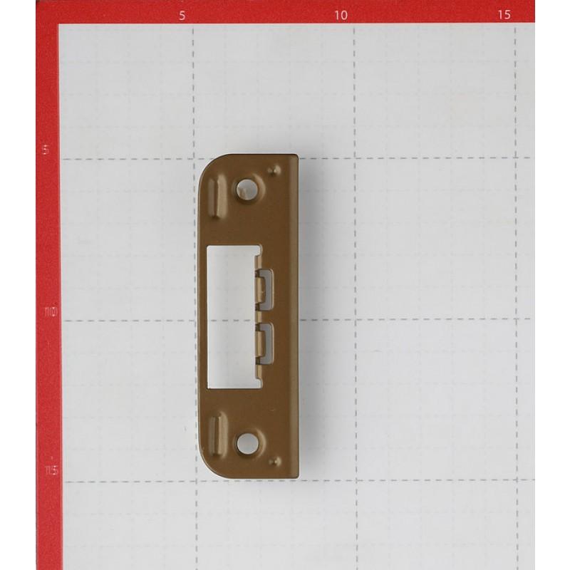 Планка ответная для врезного замка плоская 0045 (фисташка)