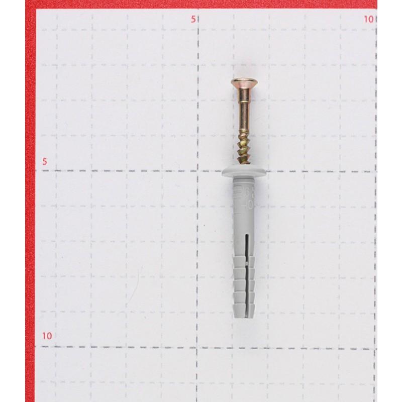 Дюбель-гвоздь Tech-Krep 6x40 мм полукруглая манжета полипропилен (200 шт.)