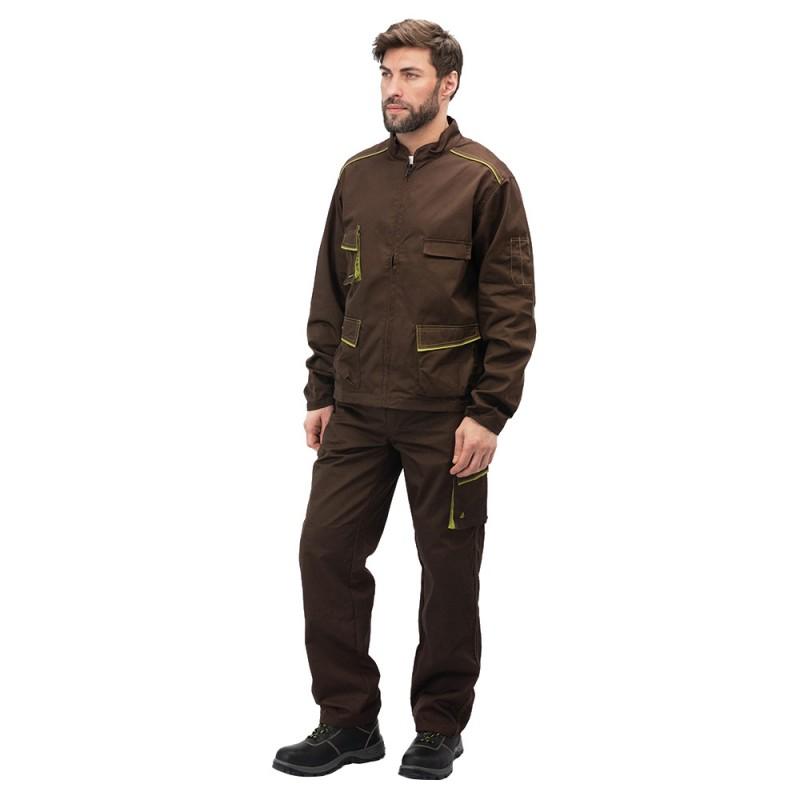 Куртка рабочая Delta Plus Panostyle (M6VESMAXG) 56-58 рост 180-188 см цвет коричневый/зеленый (фото 3)