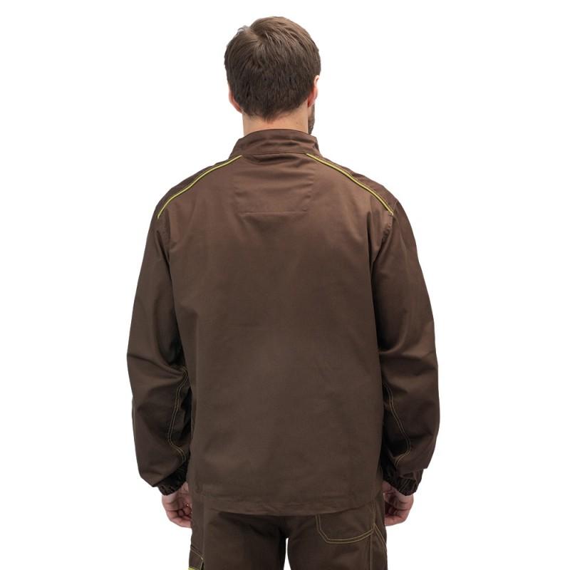 Куртка рабочая Delta Plus Panostyle (M6VESMAXG) 56-58 рост 180-188 см цвет коричневый/зеленый (фото 4)