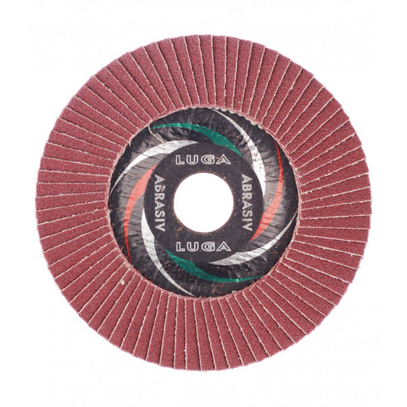 Круг лепестковый по металлу/древесине Луга 125х22,2 мм P80