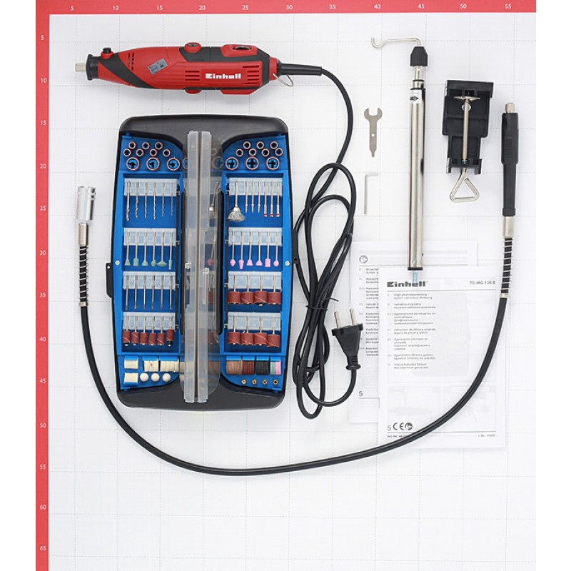Гравер электрический Einhell TС-MG 135 E (4419169) 135 Вт 216 предметов (фото 9)