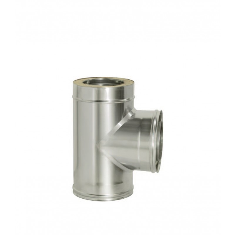 Тройник Дымок 90° х d120х200 мм с изоляцией AISI 439