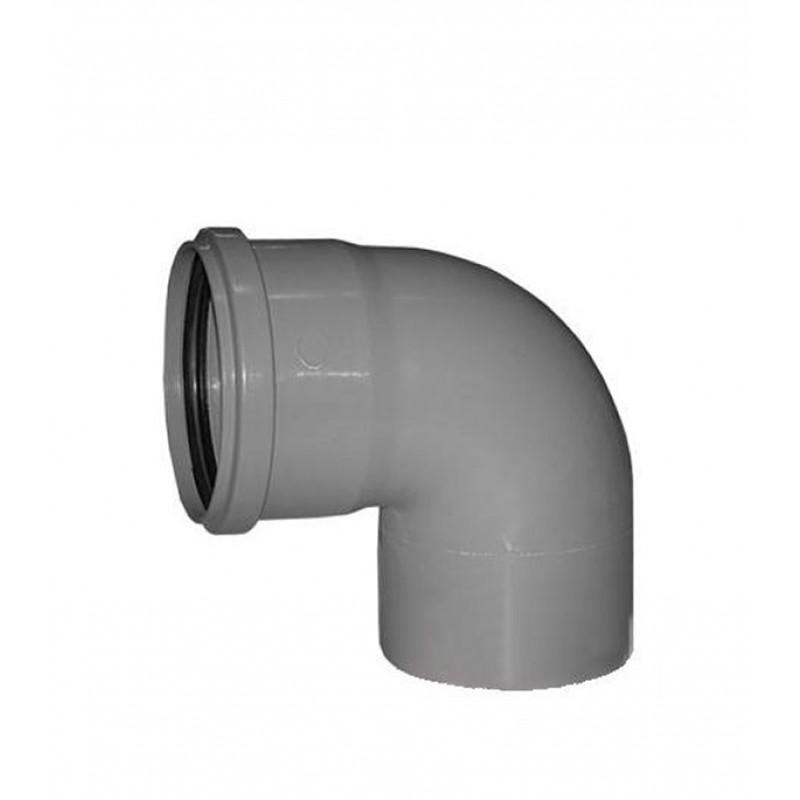 Отвод Ostendorf d32 мм 87° пластиковый для внутренней канализации