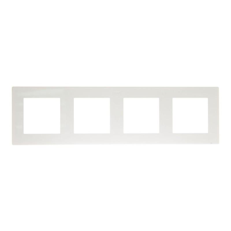 Рамка Simon 24 Harmonie 2400640-030 четырехместная универсальная белая