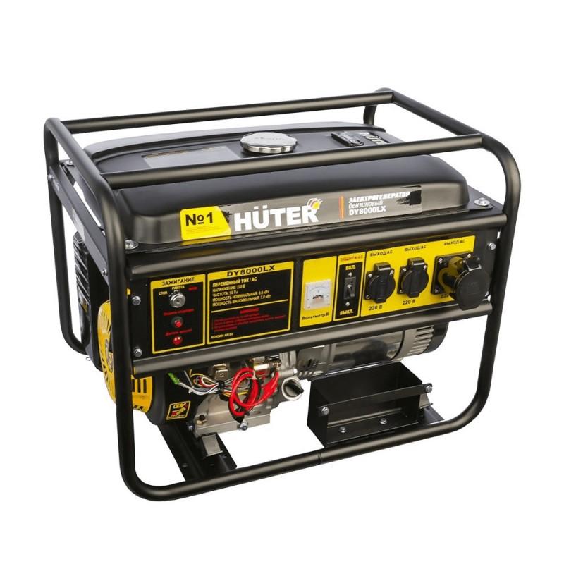 Генератор бензиновый Huter DY8000LX (64/1/19) 6,5 кВт с электростартером