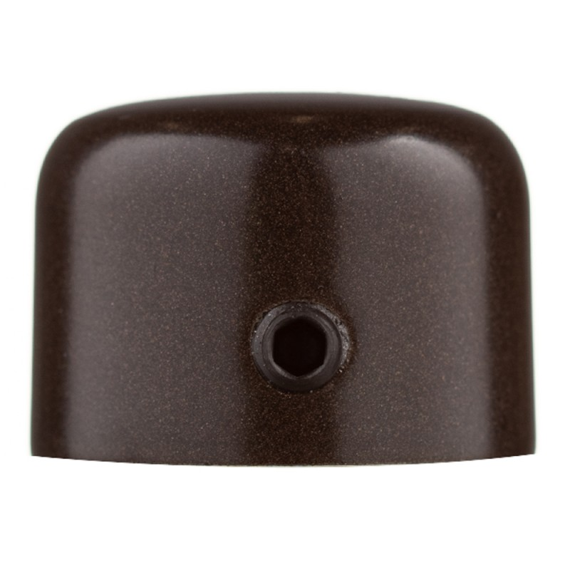Наконечник-заглушка d 16 мм шоколад 2 шт. (фото 2)