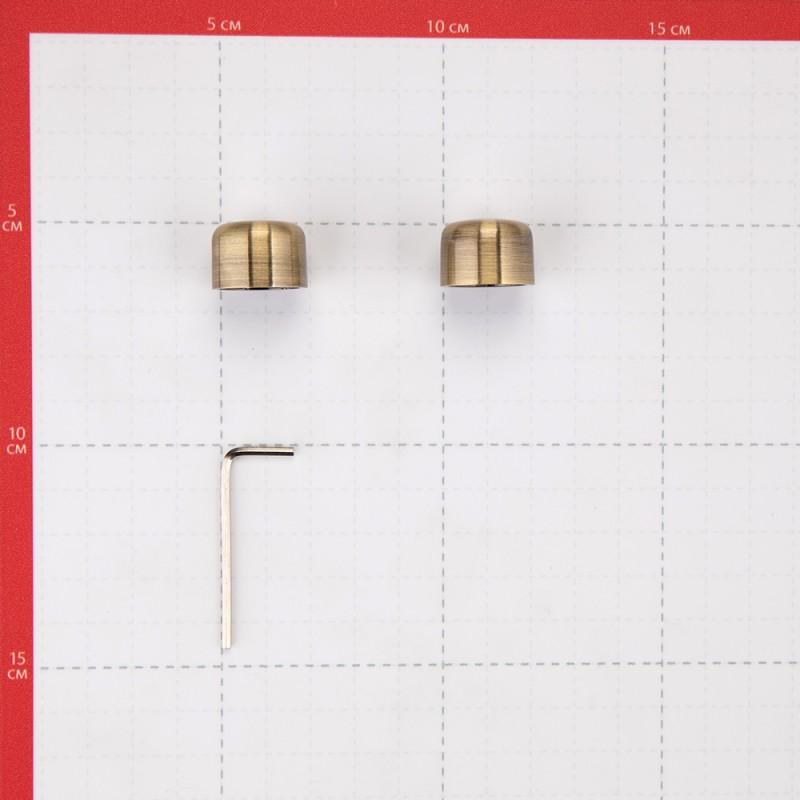 Наконечник-заглушка d 16 мм бронза 2 шт. (фото 3)