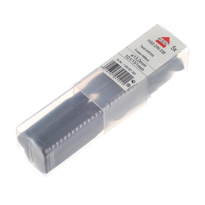 Сверло по металлу Keil (300 001 300) 13х151 мм HSS (5 шт.)