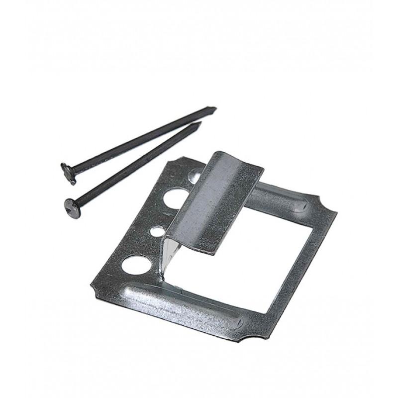 Крепеж кляймер №8 с гвоздями для имитатора бревна (50 шт.)
