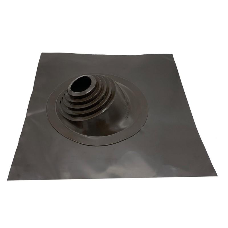 Проходка кровельная 505х505 мм для дымоходов d75-200 мм коричневый силикон
