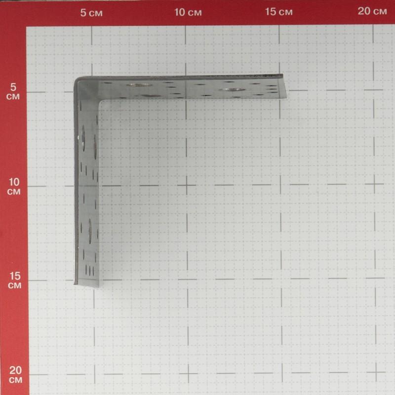 Уголок крепежный оцинкованный 105х105х90х2.5 мм (фото 2)