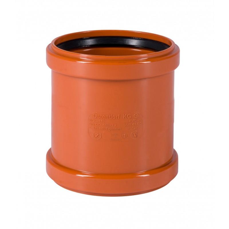 Муфта Ostendorf d110 мм пластиковая надвижная для наружной канализации