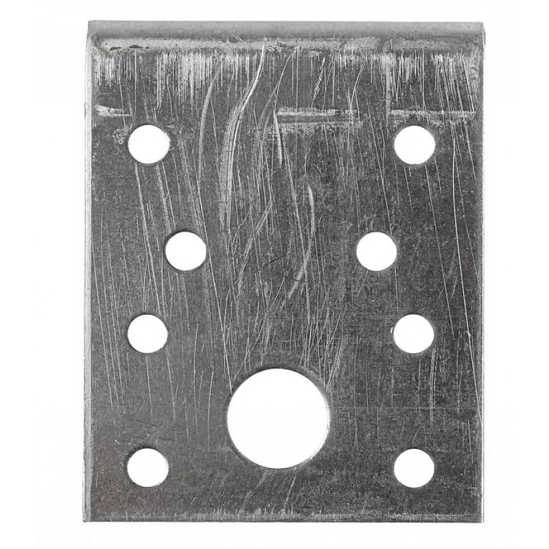 Уголок крепежный оцинкованный 70х70х55х2 мм (фото 2)