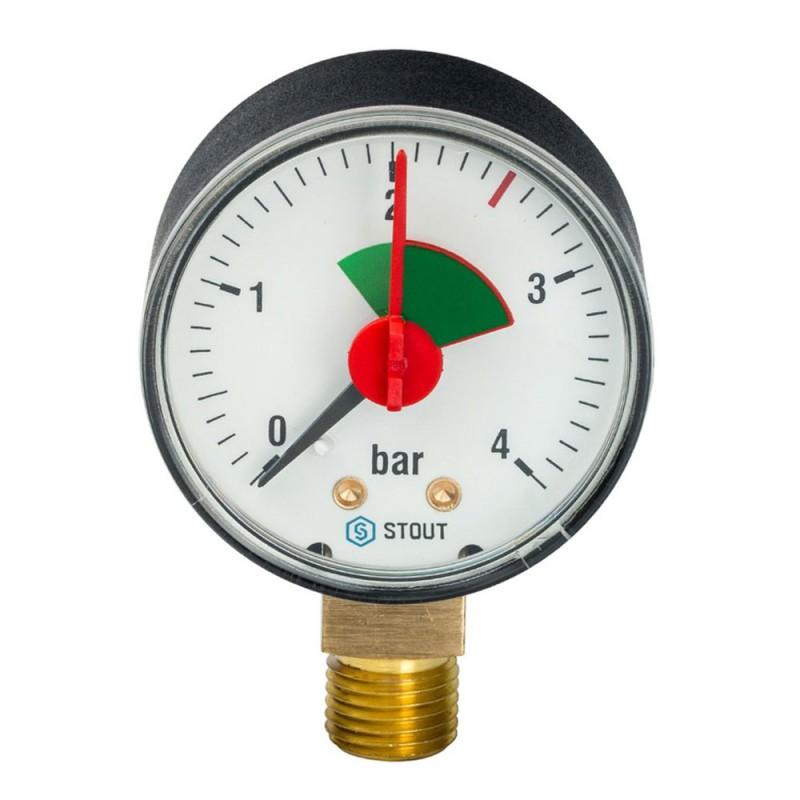 Манометр Stout (SIM-0008-500408) 1/4 НР(ш) радиальный 4 бар d50 мм