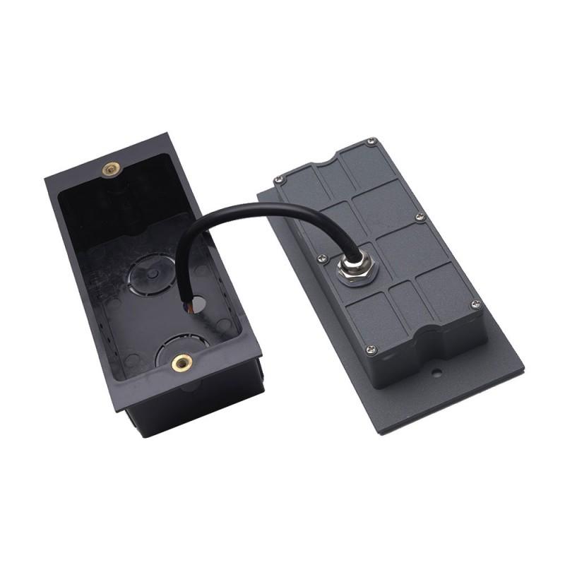 Светильник светодиодный встраиваемый FERON (41160) для лестничной подсветки 220 В черный 4000К дневной свет IP65 170х53х75 мм