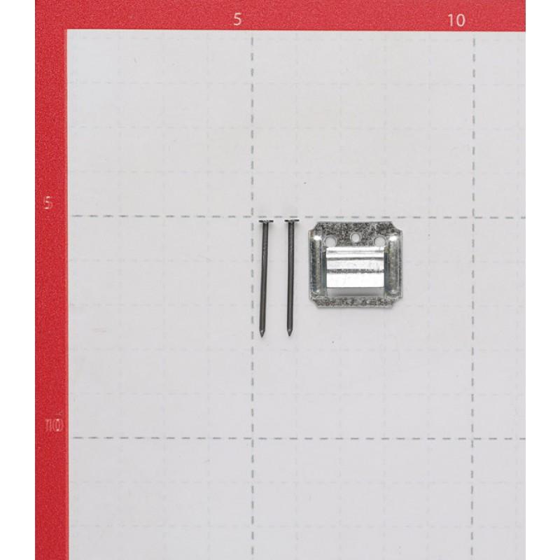 Крепеж кляймер №2 с гвоздями для вагонки и пластиковых панелей (100 шт.)