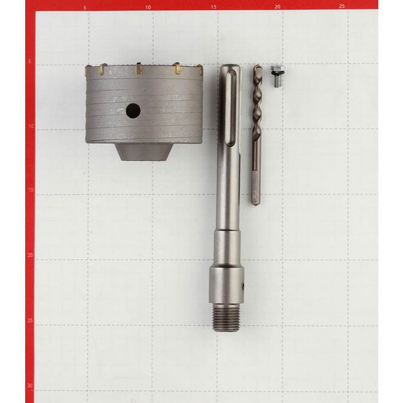 Коронка твердосплавная Практика (034-700) по бетону d90 мм с переходником