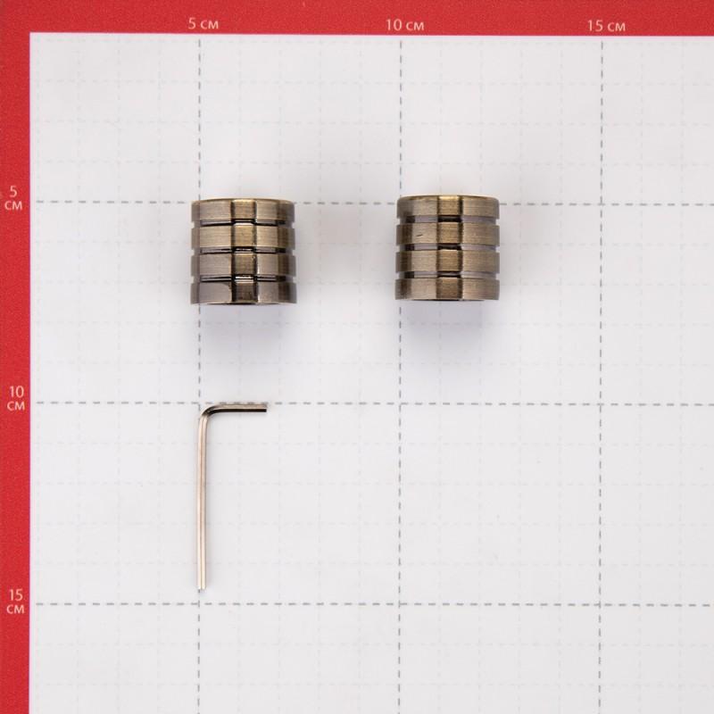 Наконечник Цилиндр-3 d 16 мм бронза 2 шт. (фото 3)