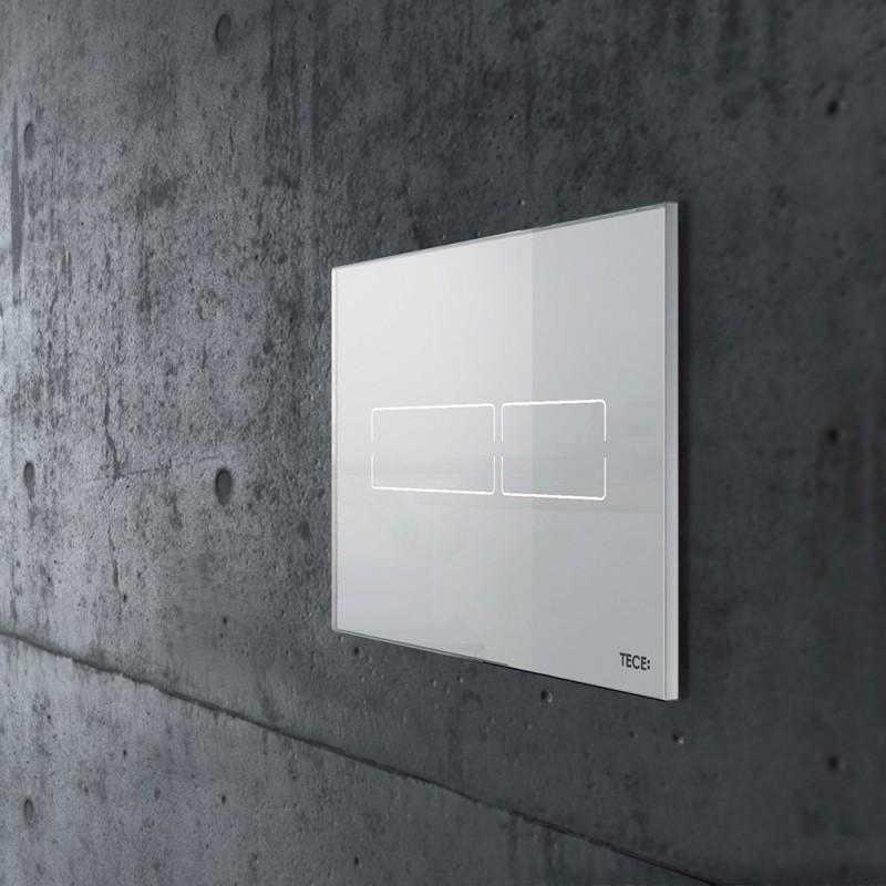 Клавиша смыва TECE Lux mini 9240960 электронная стекло белое (фото 2)