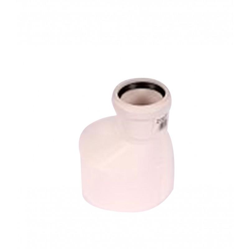 Переходник Rehau Raupiano Plus d110х50 мм пластиковый эксцентрический шумопоглощающий для внутренней канализации