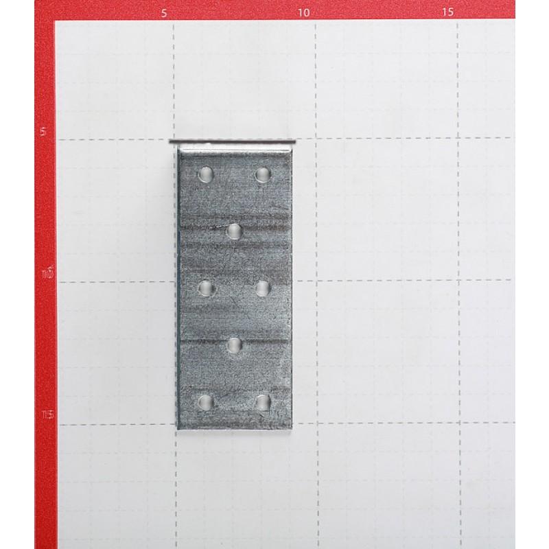 Уголок соединительный оцинкованный 100х100х40х2 мм