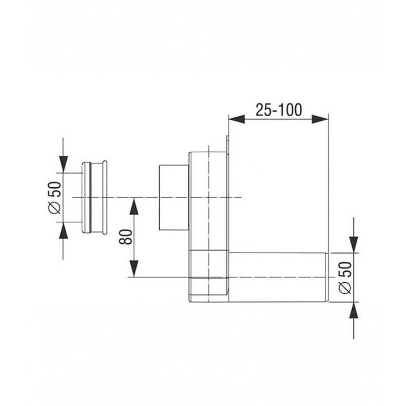 Сифон для писсуара SANTEK 1.WH30.2.086 горизонтальный (фото 2)