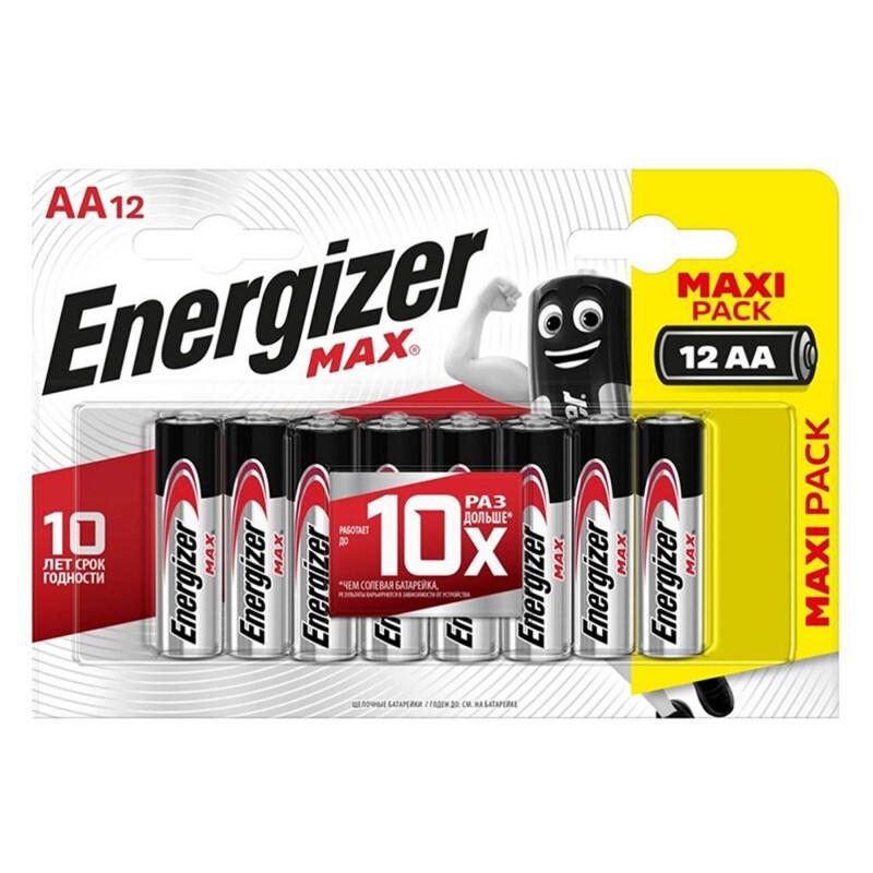 Батарейка Energizer Max Plus AAA мизинчиковая LR03 1,5 В (12 шт.)