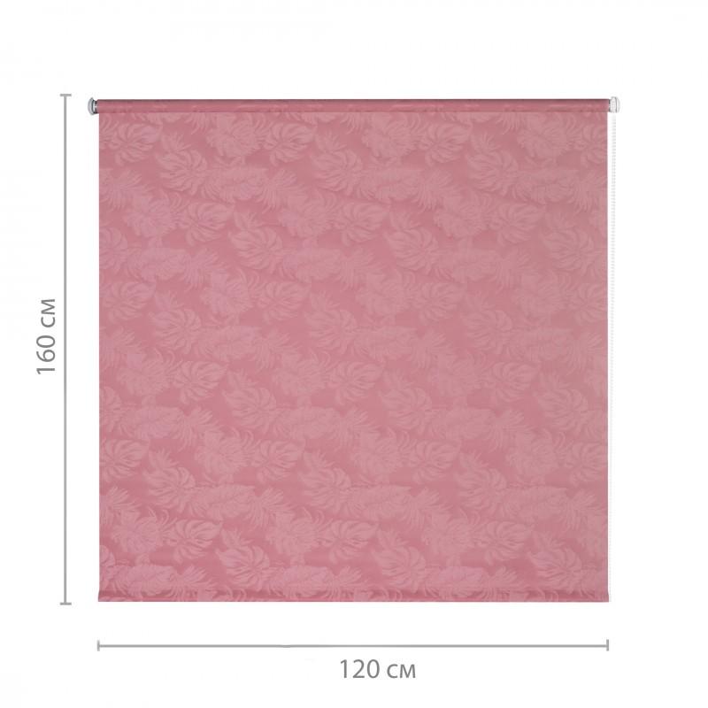 Штора рулонная Джунгли 120х160 см малиновый (фото 2)