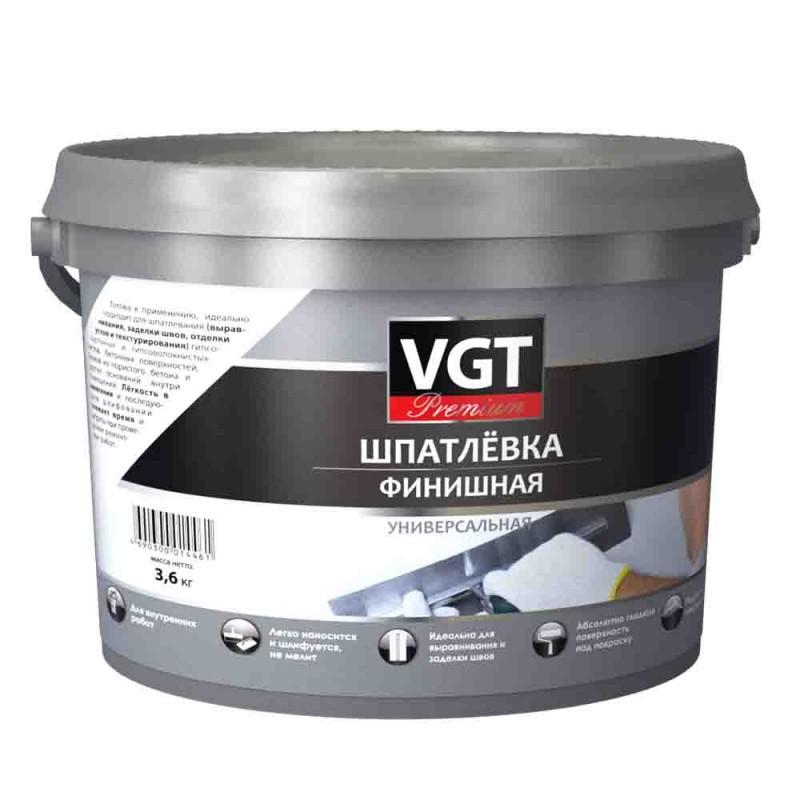Шпатлевка финишная VGT Premium 3,6 кг