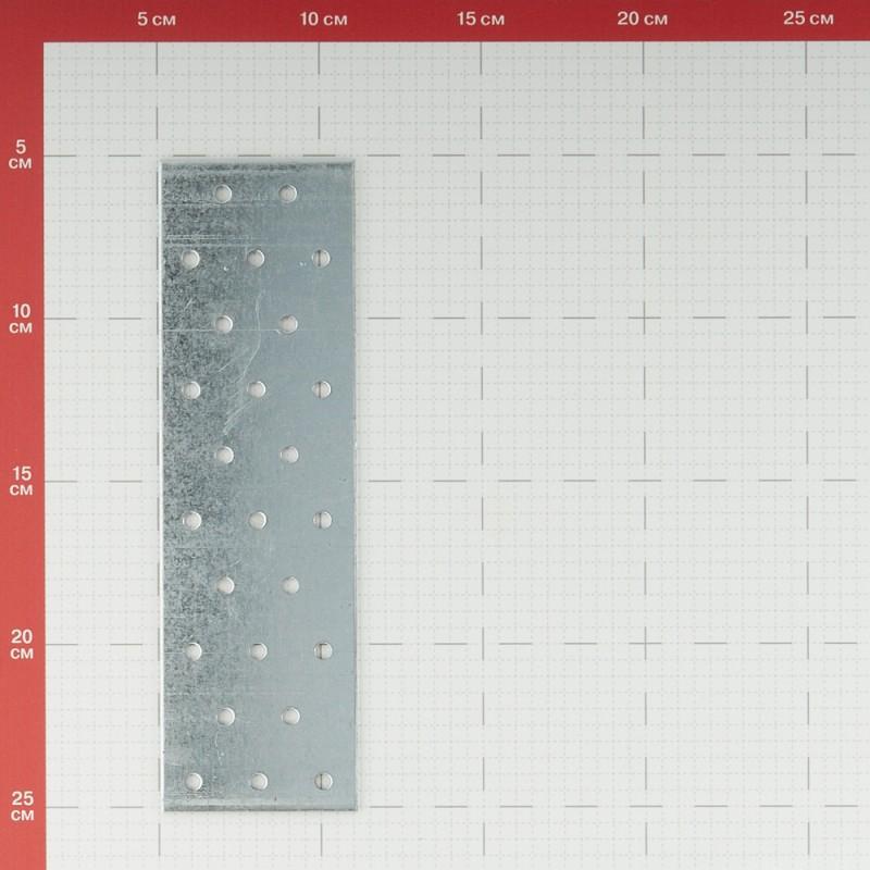 Пластина соединительная оцинкованная 200х 60х1.8 мм (фото 2)
