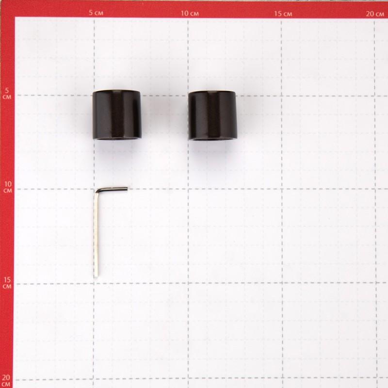 Наконечник Цилиндр d 20 мм шоколад 2 шт. (фото 2)