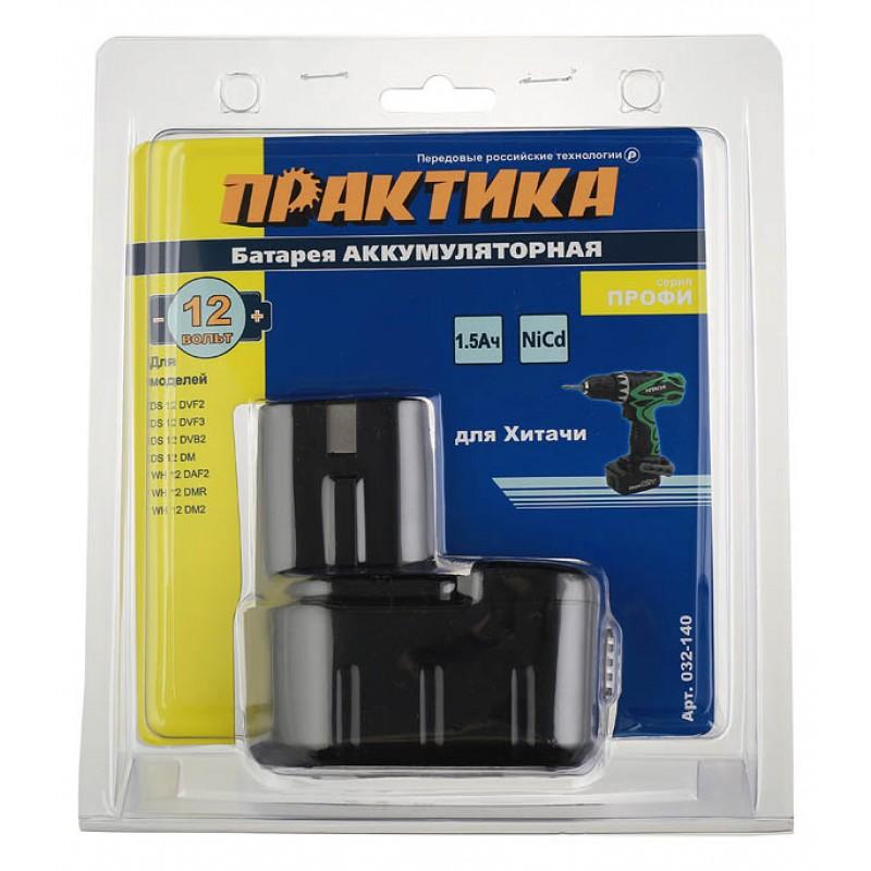 Аккумулятор Практика (032-140) 12В 1,5Ач Ni-Cd для аккумуляторного инструмента Hitachi