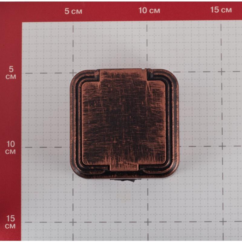 Розетка Lavelly Antico RA16-201-C открытая установка медь без заземления IP54 с крышкой