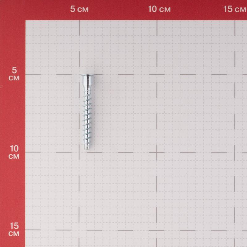 Стяжка шурупная оцинкованная 6,3х50 мм потайная головка PZ (15 шт.) (фото 2)