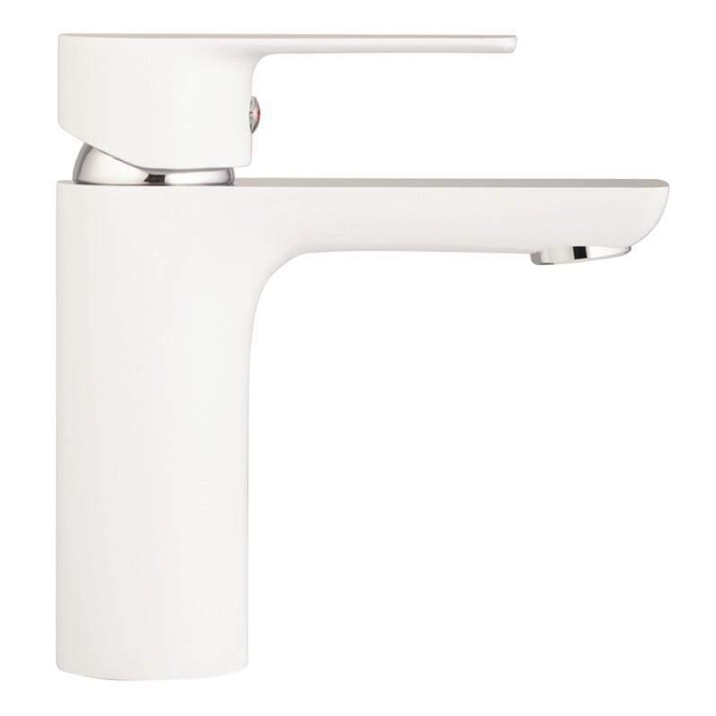 Смеситель для умывальника LAVELLY White Modern однорычажный белый/хром (фото 5)