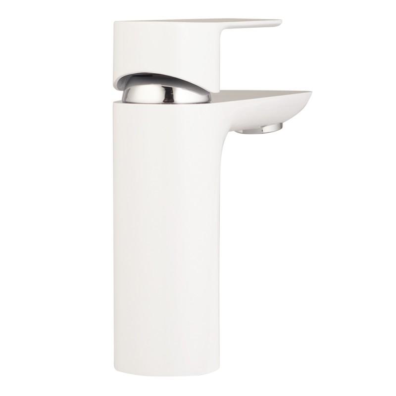 Смеситель для умывальника LAVELLY White Modern однорычажный белый/хром (фото 8)