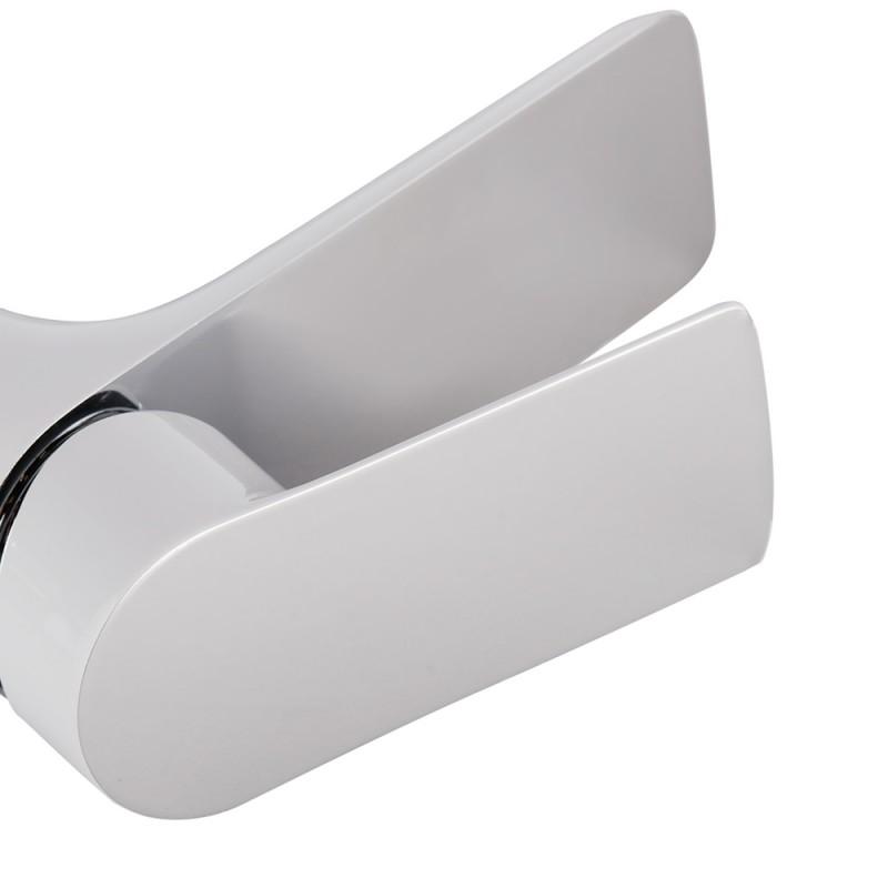 Смеситель для умывальника LAVELLY White Modern однорычажный белый/хром (фото 10)