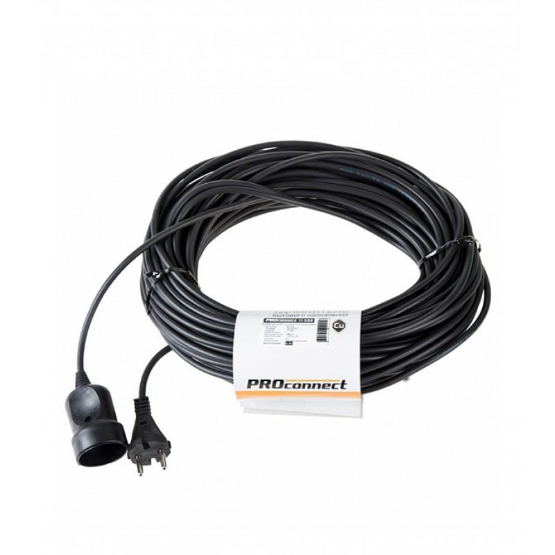 Удлинитель силовой Proconnect (11-5358) без заземления 30 м 6 А 220-250 В ПВС 2х0,75 мм2 1 розетка 1,3 кВт IP20