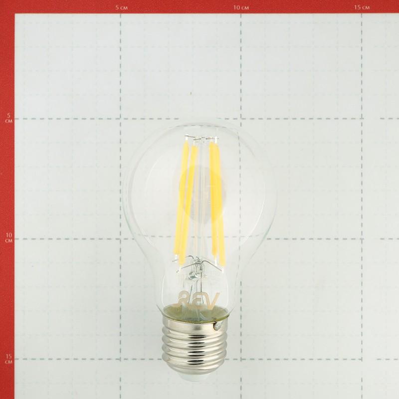 Лампа светодиодная REV 11 Вт E27 филаментная груша A60 2700К теплый белый свет 220 В прозрачная