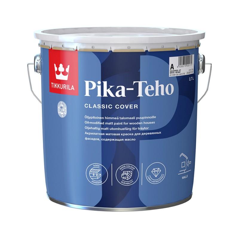 Краска водно-дисперсионная для деревянных фасадов Tikkurila Pika-Teho основа С 2,7 л