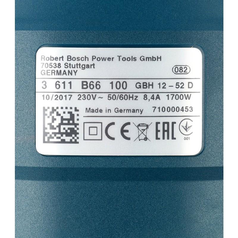 Перфоратор электрический Bosch GBH 12-52 D (0611266100) 1700 Вт 19 Дж SDS-max (фото 8)
