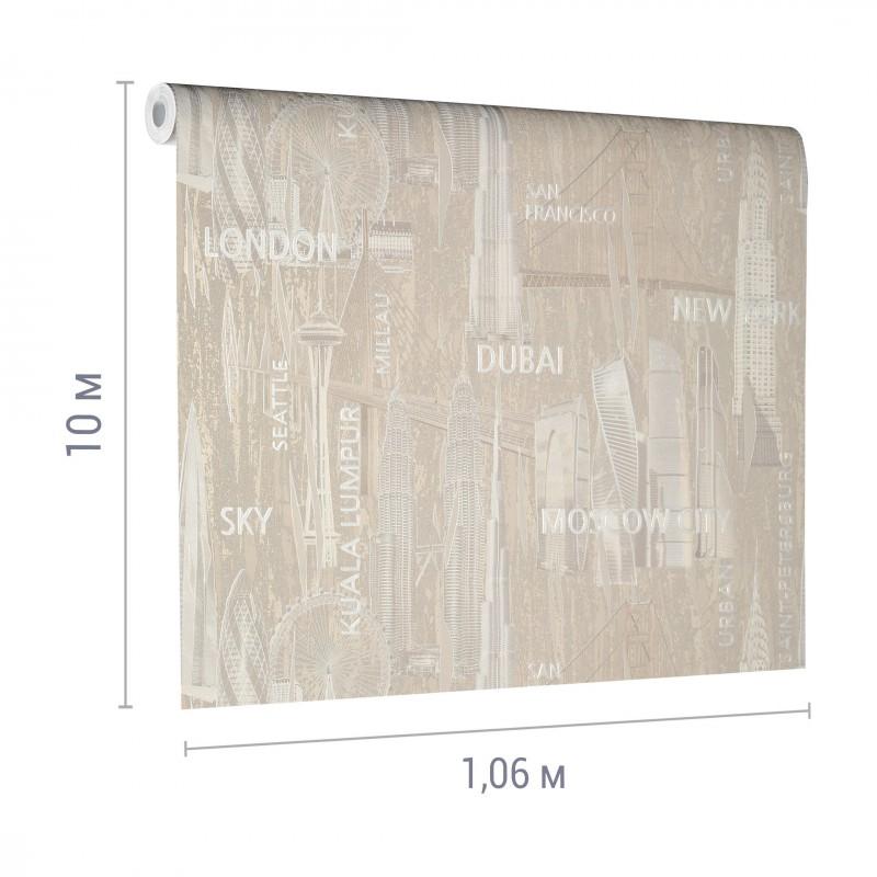 Обои компакт-винил на флизелиновой основе Victoria Stenova Capital 888832 (1,06х10 м) (фото 3)