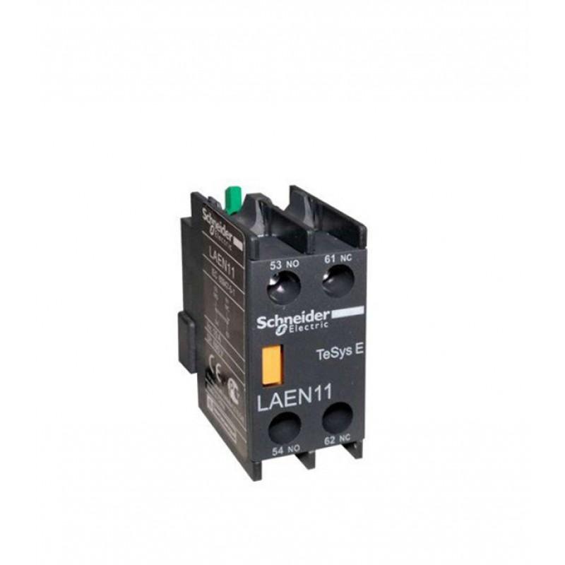 Блок контактный Schneider Electric TeSys (LAEN11) 220 В 10 А тип AC для 3-х полюсного контактора 1НО+1НЗ винтовые зажимы