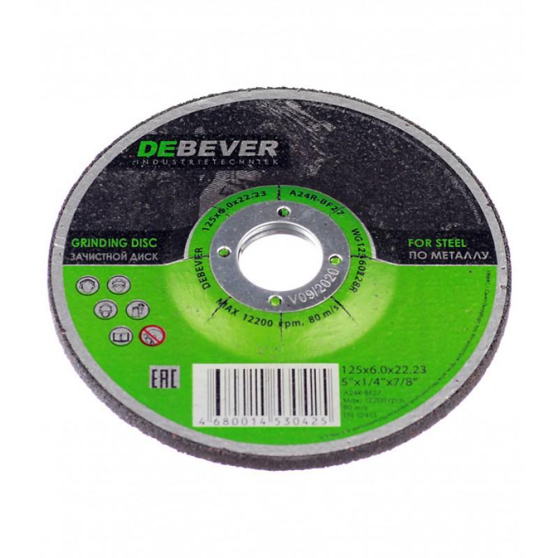 Круг зачистной по металлу Debever 125х22х6 мм