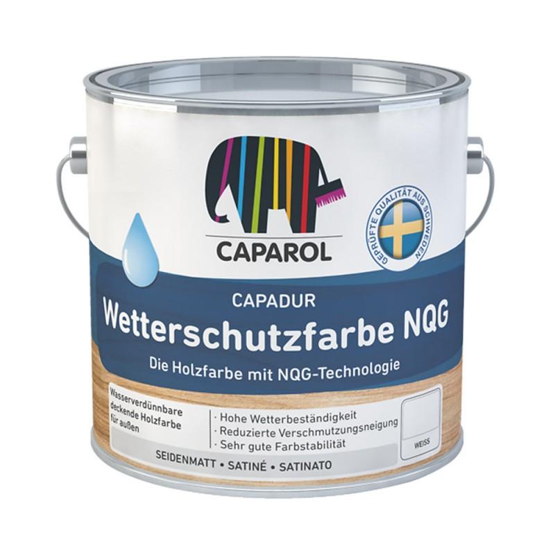 Краска водно-дисперсионная для деревянных фасадов Caparol Capadur Wetterschutzfarbe NQG белая база 1 9,6 л