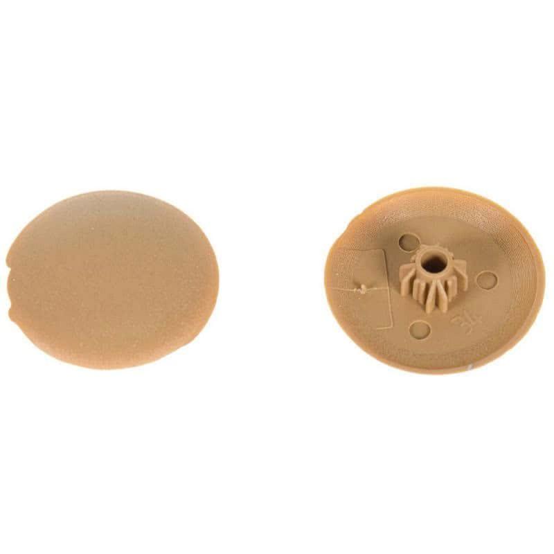 Заглушка декоративная пластиковая на мебельную стяжку HEX 5 мм бук (40 шт.)