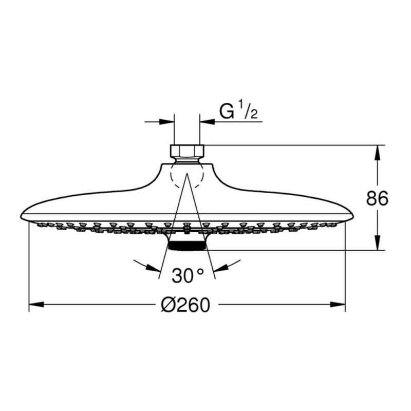 Лейка душевая верхняя GROHE Vitalio Joy 26462000 D260 мм 3F