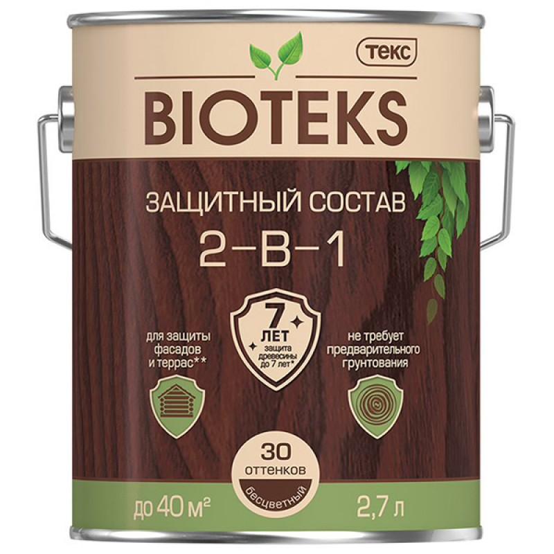 Антисептик Текс Bioteks 2-в-1 декоративный для дерева бесцветный 2,7 л